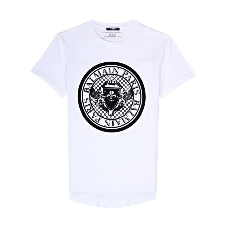 BALMAIN -  T-shirt With Balmain Medallion Print