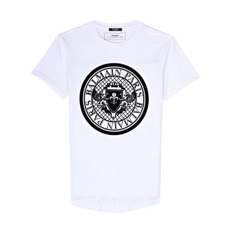 BALMAIN -  T-shirt With Balmain Medallion Print
