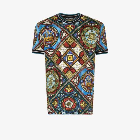 Dolce & Gabbana - Multicolor Windows Print T-Shirt