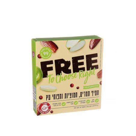 FREE פרי חטיף תמרים חמוציות ותפוחי עץ - מארז 5 יחידות 25x גרם