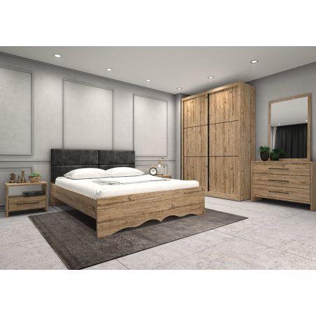 חדר שינה מידנייט כולל ארון הזזה