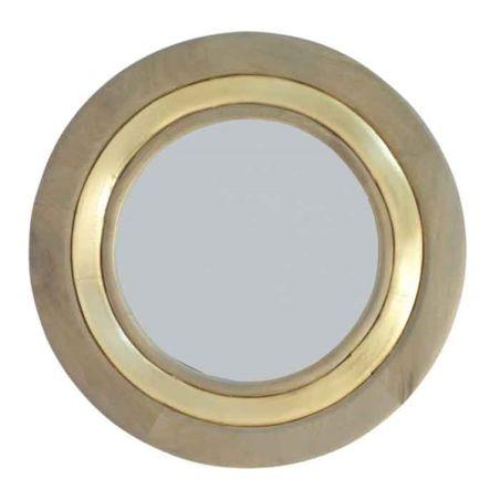 מראה עגולה זהב f