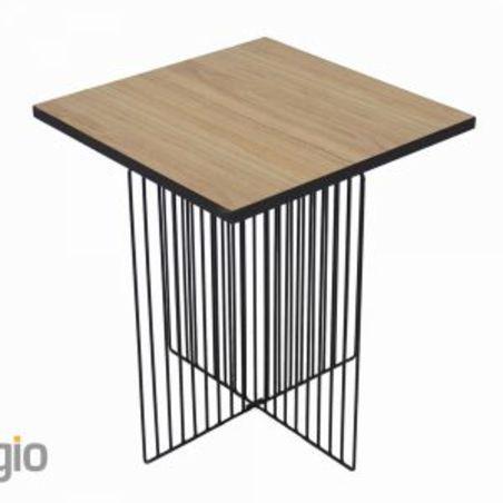 שולחן עץ/שחור