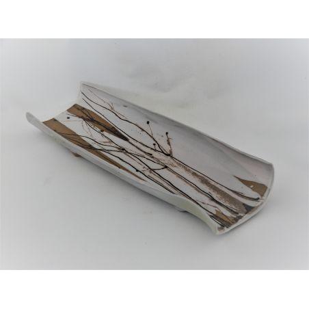מגש ארוך הדפס עצים