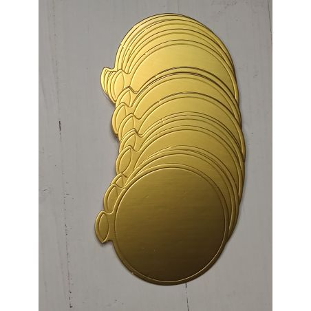 תחתית עיגול לקינוחים צבע זהב  - 100 יחידות