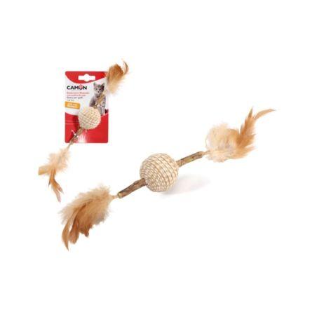 צעצוע לחתול מקל מטאטאבי עם כדור