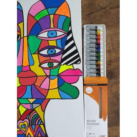 סט 12 צבעי אקריליק Simply Acrylic