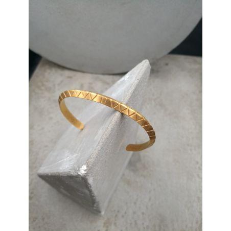 צמיד רייבון גאומטרי - זהב