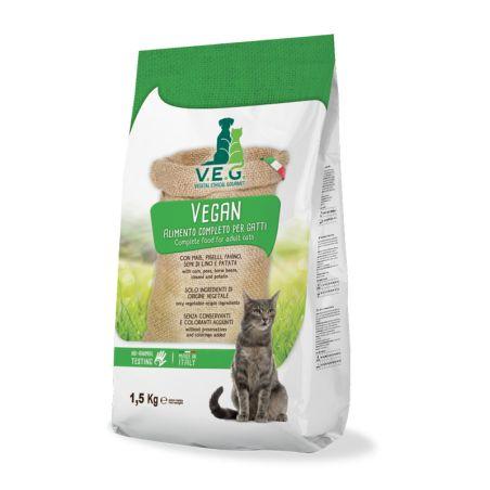 VEG מזון טבעוני לחתולים  1.5 קילו