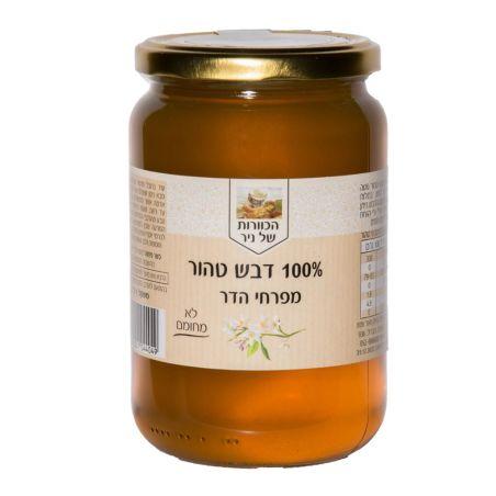 דבש טהור מפרחי הדרים - 500 גרם  מכוורת ניר