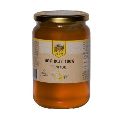 דבש טהור מפרחי בר - 500 גרם  מכוורת ניר