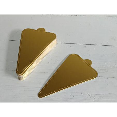 תחתית קינוחים משולשים זהב