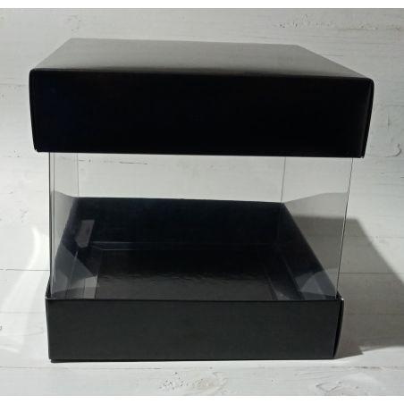 אריזה בסיס שחור שרוול שקוף 20*20 גובה 19 - 10 יחידות