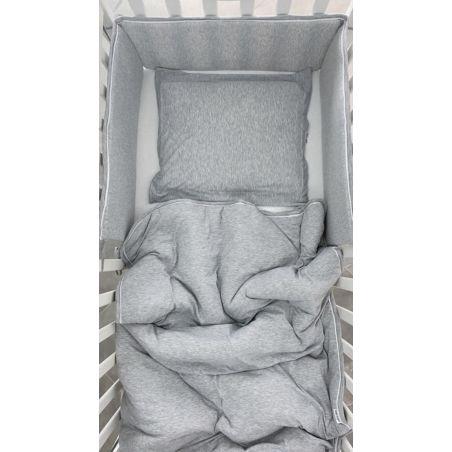 שמיכת SOFT למיטת תינוק | אפור מלאנז