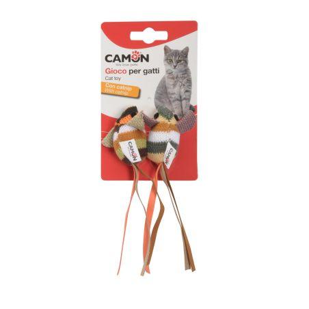זוג עכברי צעצוע סרוגים עם קטניפ