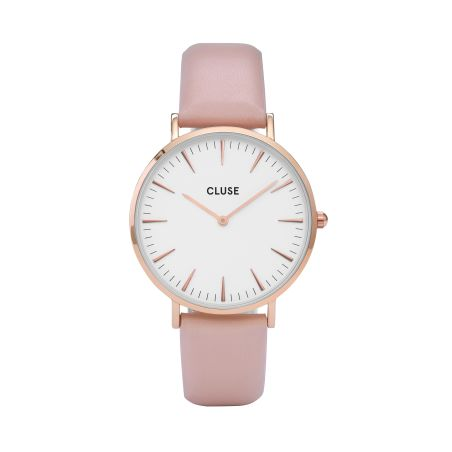 38 mm - CW0101201012  Boho Chic Leather Pink, Rose Gold Colour