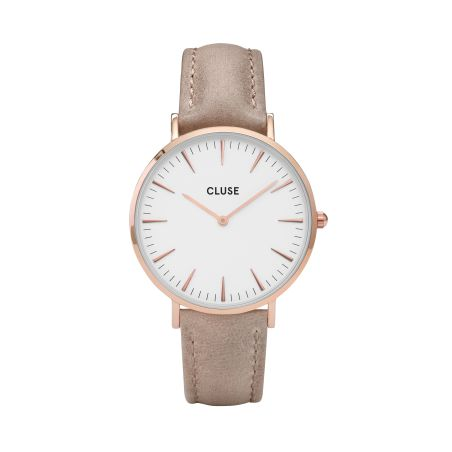 38  mm - CW0101201015  Boho Chic Leather Hazelnut, Rose