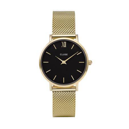 33 mm - CW0101203017  Minuit Mesh Black, Gold Colour