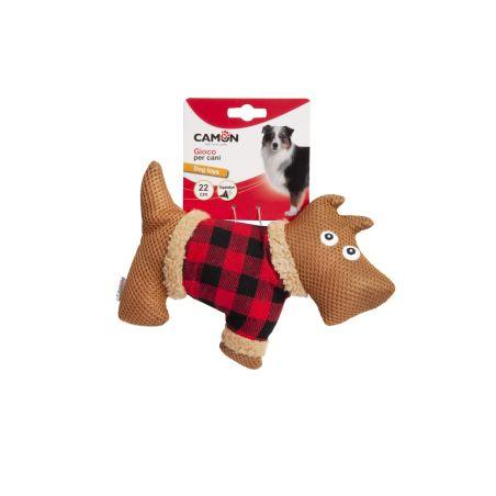 צעצוע בד מצפצף בצורת כלב