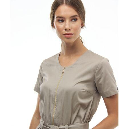 Zipped scrubs overall for women Safari 27