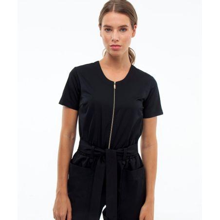Zipped scrubs overall for women Black 27