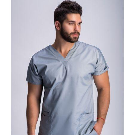 Classical surgical scrubs set for men Asphalt 0181