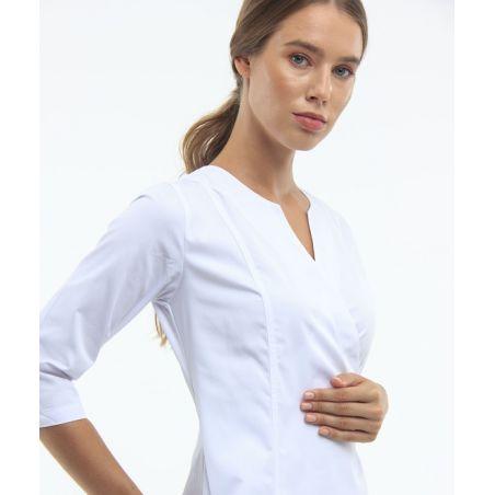 Wrap scrubs gown for women White 127