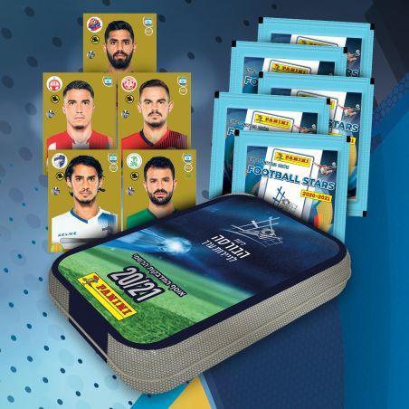 קופסת אספנים של קלפי כדורגל 5 מדבקות אסים מיוחדות + 5 מעטפות