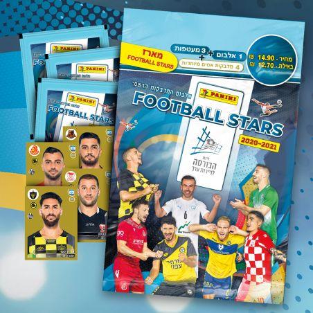 מארז קלפי כדורגל – אלבום + 3 מעטפות + 4 מדבקות אסים