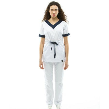 Scrubs set for women White/Navy 2387