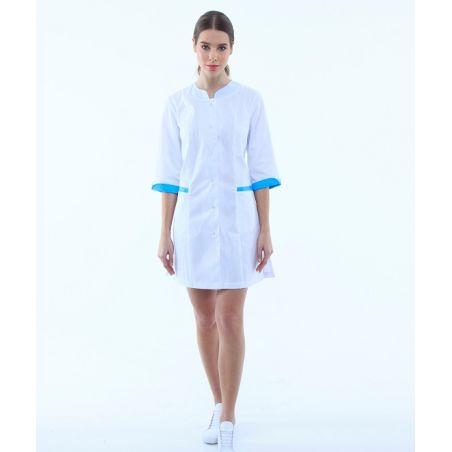 Scrubs gown for women White/Blue 131