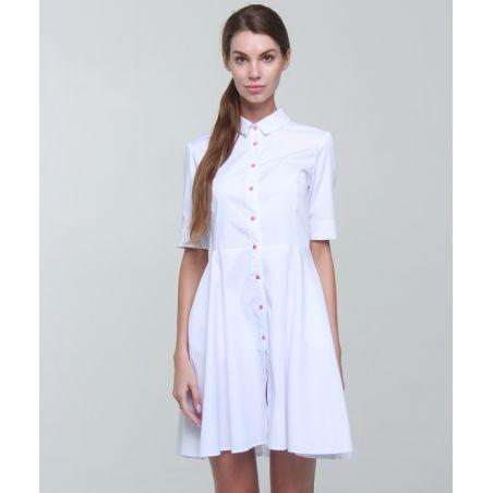Scrubs gown for women White 119