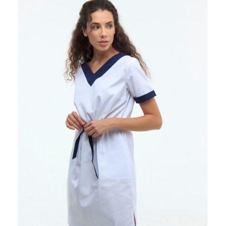 Scrubs dress White/Navy 130