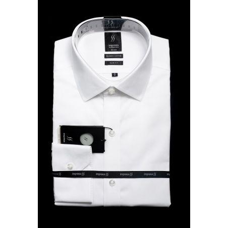 חולצה לבנה אימפרס 502 גזרה רגילה עם כיס