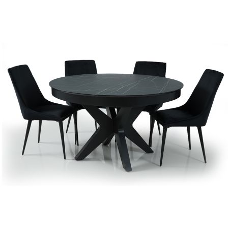 שולחן אוכל דגם מונרו+ 4 כסאות