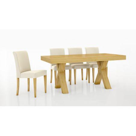 שולחן אוכל דגם סטאר + 6 כסאות