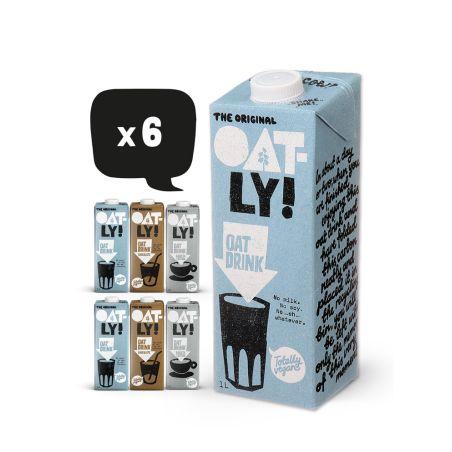 אוטלי משקה שיבולת שועל מבחר טעמים - מארז 6 יחידות