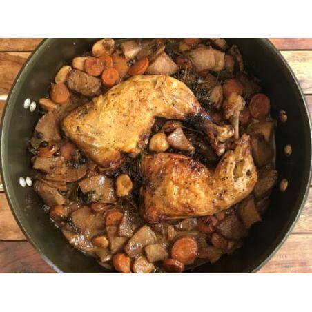 תבשיל כרעי עוף ביין לבן - 2 כרעיים