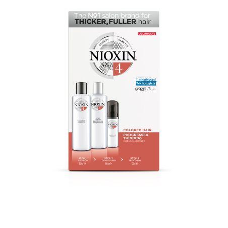 NIOXIN קיט טיפול לשיער דליל שעבר תהליך כימי לשיער עבה ומלא לחות-סדרה 4