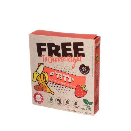 FREE ילדודס חטיף תמרים תות בננה