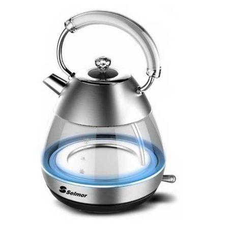 קומקום חשמלי זכוכית Selmor SE930 1.7 ליטר סלמור