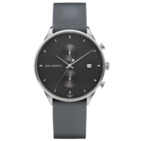 Watch Chrono Midnight Ocean Silver Leather Grey Blue PH-C-S-M-48M