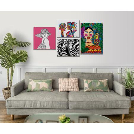 קיר תמונות אומנותי לצביעה  - 4 תמונות