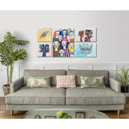 קיר תמונות אומנותי לצביעה  - 5 תמונות