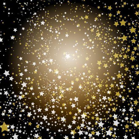 טפט מדבקה 35*35  דגם כוכבים זוהרים