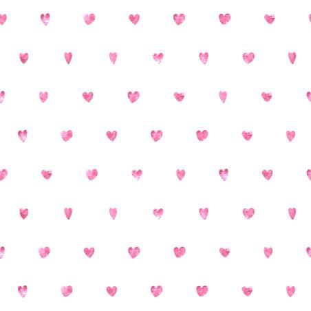טפט מדבקה 35*35  דגם לבבות ורודים