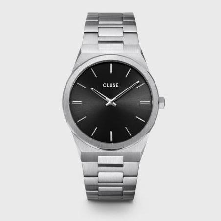 CW0101503004  Vigoureux Steel Black, Silver Colour