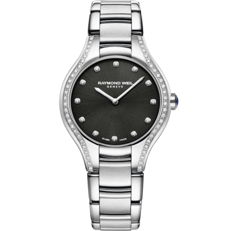 Noemia Ladies Quartz 64 Diamond Black 5132-STS-20081