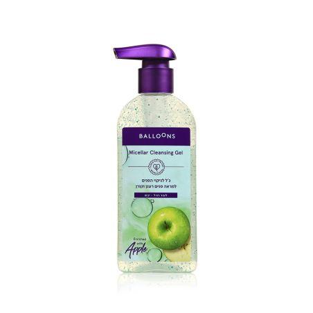 בלונס ג'ל לניקוי פנים תפוח - לעור רגיל-יבש 230 מ