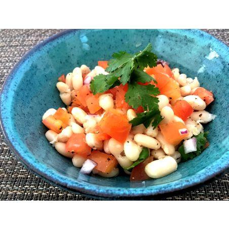 סלט שעועית לבנה, עגבניות וכוסברה - ליטר